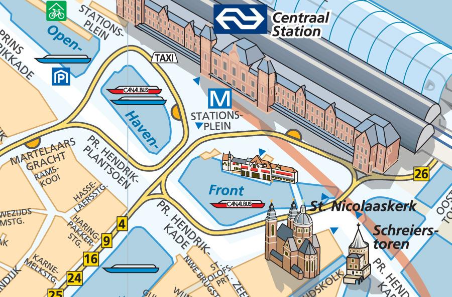Centrumkaart Amsterdam